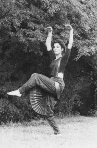Fabrizia in Shiva pose photographed by Polly Farquarson
