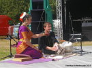 Fabrizia with Neil Craig on tabla at Kaleidoscope Festival |