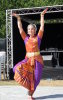 Fabrizia in Shiva pose at Kaleidoscope Festival |