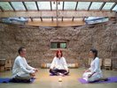 Fabrizia teaching yoga and meditation |